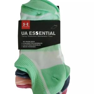 Under armor new Ua essential socks colorful 4Y